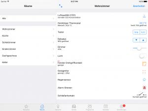 iPad Ansicht Räume